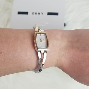 DKNY Rose Gold & Silver Bracelet Watch